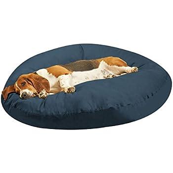 "Amazon.com : PawTex Premium Round Dog Bed, 50"", Blue : Pet"