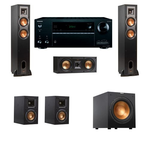 Klipsch R-26F Floorstanding Speakers 5.1 R-10SW Onkyo TX-NR6