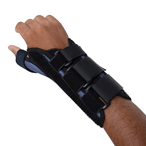 - Sammons Preston Thumb Spica Wrist Brace, MC and CMC Joint Support and Stabilizer, Secure Brace and Splint for Thumb with Open Finger, Splint for Recovery, Therapy, Rehabilitation, Left, Medium