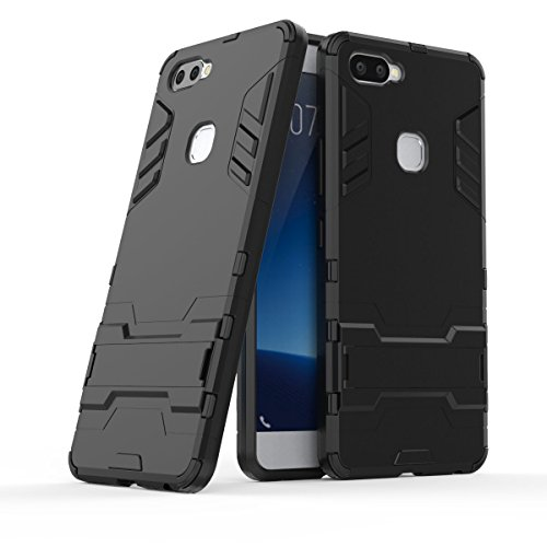VIVO X20 Plus Case, SsHhUu Shock Proof Cover Dual Layer Hybrid Armor Combo Protective Hard Case with Kickstand for VIVO X20 Plus (6.01