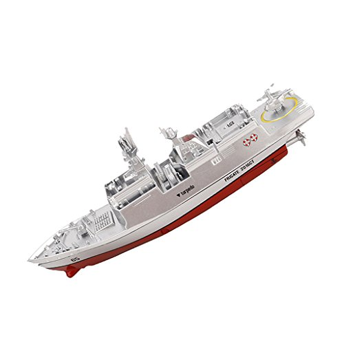 (SM SunniMix RC Navy Destroyer Radio Remote Control Boat / Battleship Warship - Silver )