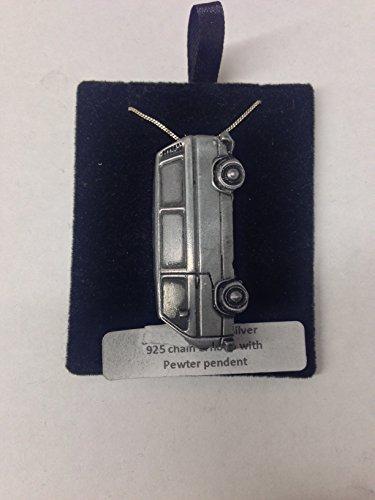 VW Type de 25Van côté effet étain ref304b emblème Argent 925collier en argent sterling fait à la main sur une véritable 50,8cm Chaîne avec prideindetails Boîte Cadeau
