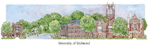 University of Richmond - Collegiate Sculptured Ornament by Sculptured Watercolor Ornaments