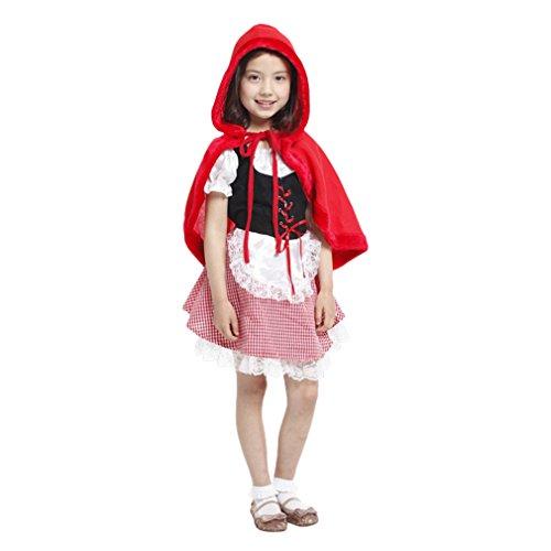 Jimall Girls Halloween Costumes Performance Dress-up Fanny Dress 10-12 Years (Halloween Costume Ideas For Girls Age 12)