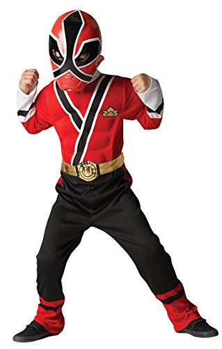 [Saban's Power Rangers Super Samurai Child's Costume with Mask, Size 4 - 6x, Red Ranger] (Power Ranger Samurai Costumes)