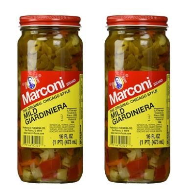 Marconi Mild Giardiniera, 16 Ounce (Pack of 2) by Marconi