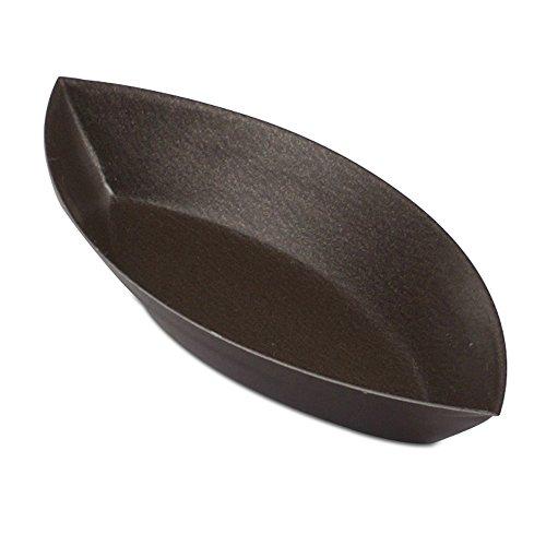JB Prince Plain Barquettes 4 inch Non-Stick 12 Pack (Mold Barquette)