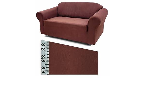 Stretch Suede Sand Furniture Slipcover Loveseat 735