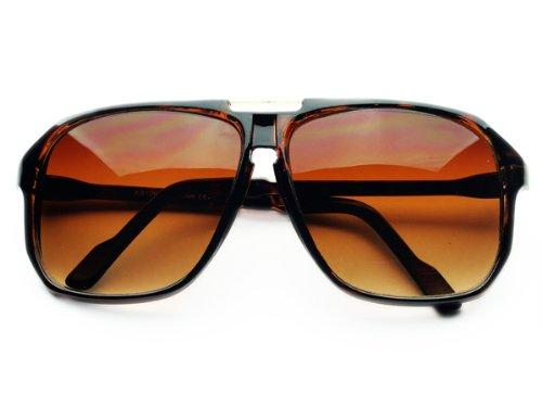 Retro Celebrity Style Flat Top Key Hole Aviator Sunglasses - For Sunglasses Dc Women