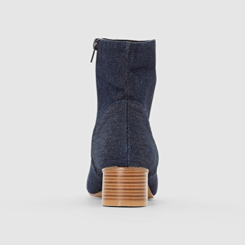 La Redoute Womens Heeled Ankle Boots Denim HkzDEc6