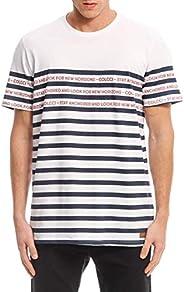 Camiseta listras e frases, Colcci, Masculino
