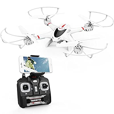 DBPOWER MJX X400W FPV Drone with Wifi Camera Live Video Headless Mode 2.4GHz 4 Chanel 6 Axis Gyro RTF RC Quadcopter, Compatible with 3D VR Headset by Dbpower
