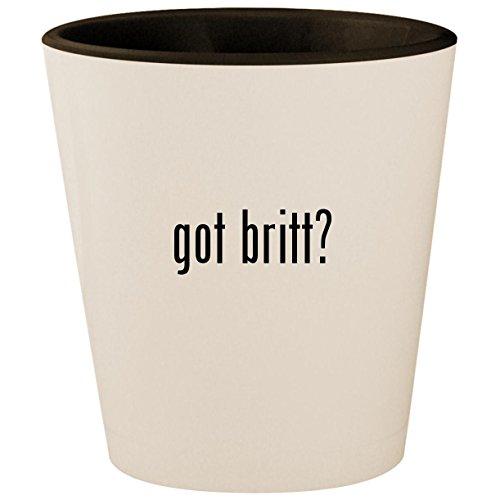 got britt? - White Outer & Black Inner Ceramic 1.5oz Shot Glass