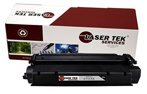 Laser Tek Services Compatible Toner Cartridge Replacement for High Yield HP 15X C7115X (Black, 1-Pack)