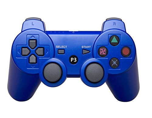 GAME-O Bluetooth Wireless Remote Game Gaming Controller Gamepad Consoles Joypad Joystick for Playstation 3 PS3 - Blue
