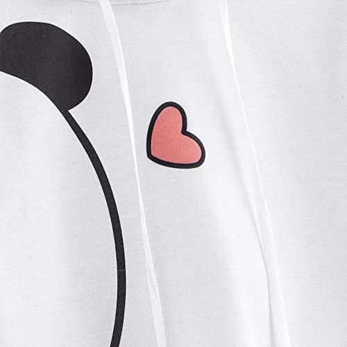 para as Tops impresa Panda manga Aimee7 larga ni negro Hoodies sudadera Mujer xqBvB8U4