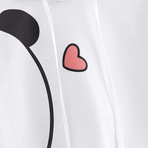 larga Hoodies Aimee7 negro sudadera para ni as Panda impresa Mujer Tops manga StSwUd