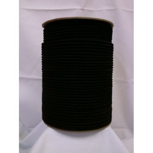 1/4'' x 100ft. Shock Cord/Bungee Cord, Fin:BLK.