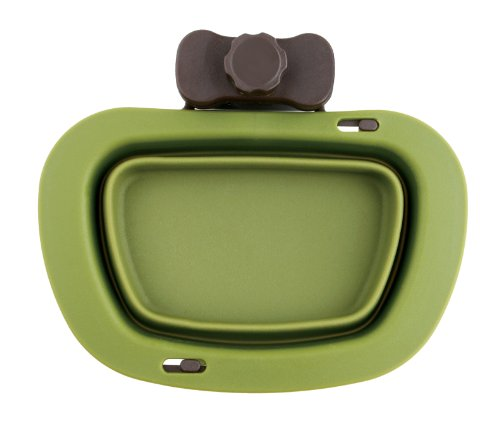 Dexas Popware for Pets Pivot Collapsible Kennel Cup, Large, Green