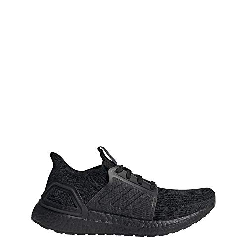 adidas Women's Ultraboost 19 Running Shoe, Black/Black/Solar Orange, 9 M US
