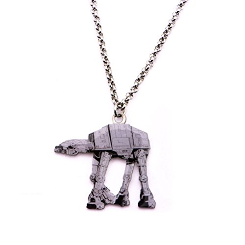 Star Wars AT-AT Walker Stainless Steel Pendant Chain Necklace Disney - At At Costumes