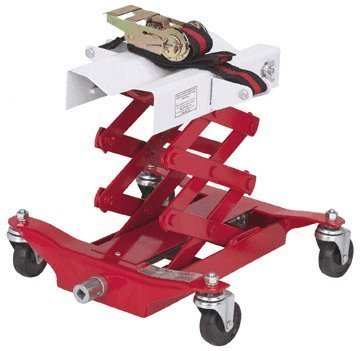 Low Lift Transmission Jack - 450 Lbs Capacity Low Lift Transmission Jack with Safety Chain/Strap