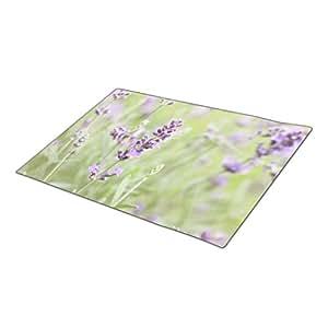 ZeroByte Lavender Monogrammed Door Mat Flower Large Front Door Mats