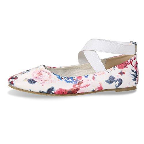 CINAK Comfortable Classic Flats Womens Shoes Black Walking Ballet Elastic Crossing Straps