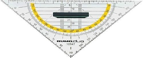 Rumold 10147Triangoli della geometria, in plastica con manico colore: grigio fumo colorato RUMOLD GmbH & Co KG