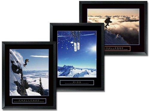 Challenge Framed Motivational Print (3 Framed Ski Motivational Posters Challenge)