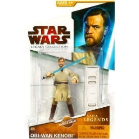 Star Wars 2009 Saga Legends Action Figure SL No. 3 Obi-Wan Kenobi (Star Wars Dc 15 Blaster Rifle Toy)