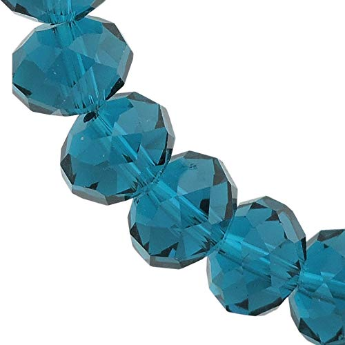 Glass Crystal Beads Faceted Rondelle Shape Beads for Jewelry DIY or Making & Design (12MM, GB-1013) ()