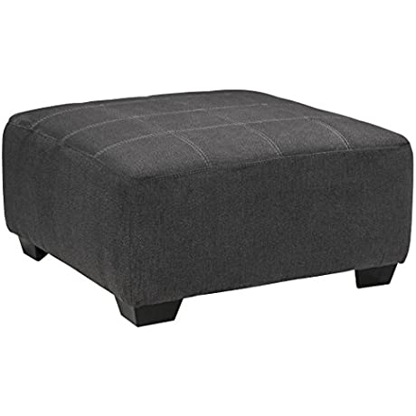 Sorenton Fabric Slate Color Oversized Accent Ottoman