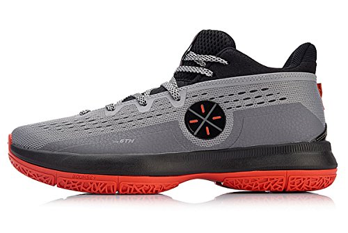e09ee570081d LI-NING Men Wade The Sixth Professional Basketball Shoes Lining Breathable  Anti-Slip Athletic Shoes Grey ABAN023 US 10