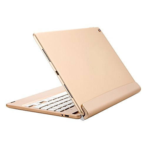 2016-iPad-Pro-Keyboard-CaseKIWETASO-W-Detachable-Rechargeable-Wireless-Bluetooth-Smart-Keyboard-For-Apple-iPad-Pro-97-Air-2-Not-for-iPad-5Th-Generation-New-iPad-97Gold