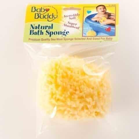 Baby Buddy Premuim Natural Sea Wool Bath Sponge (Boxed)