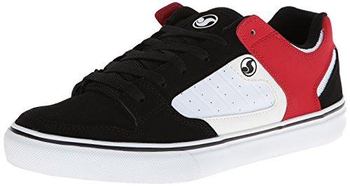 DVS Militia CT Skate Shoe - Men's Black/White/Red Leather,