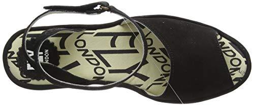 con nero Pato976fly caviglia cinturino London alla neri Fly donna Sandali 000 da vqxYtw45