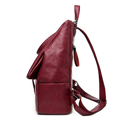 Backpack Bag Shopping Travel Multi Joker Backpack Casual functional Burgundy Mummy Youth z177WO6q5
