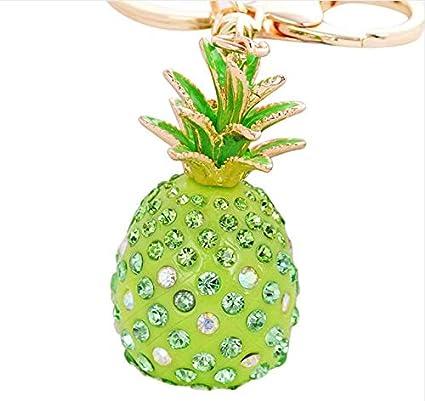 Amazon.com: TXIN Pineapple Crystal Rhinestone Keyring Car ...