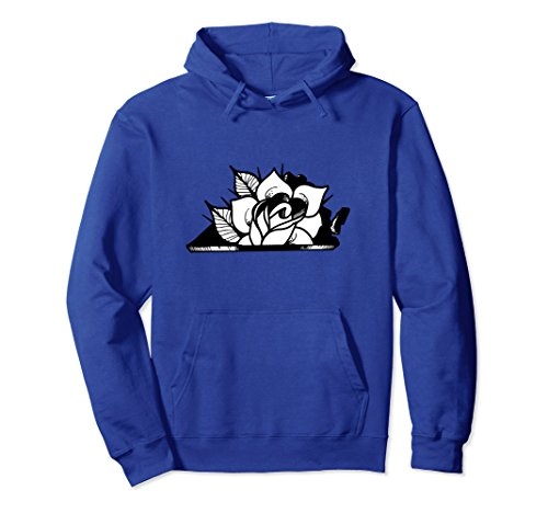 Virginia Classic Sweatshirt (Unisex Classic Tattoo Virginia Rose Hoodie - Virginia Sweatshirt 2XL Royal Blue)
