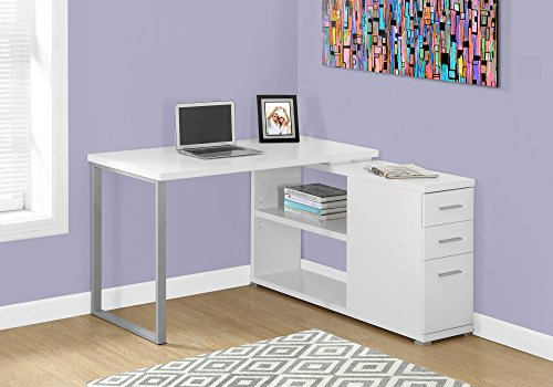 Monarch Left Or Right Facing Corner Computer Desk, White