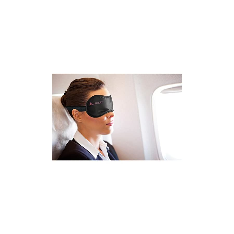 Aurorae Eye Mask Soft, Comfortable with Free Ear Plug and Carry Bag. Blocks out Light and Sound for Peaceful Sleeping, Restful Travel and Creates a Calm Enviroment for Yoga Shavasana and Meditation. 100% Aurorae with Highest customer Service Ratings