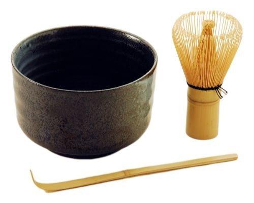 Fuji Merchandise FUT1-B MATCHA BOWL SET, One Size, Black