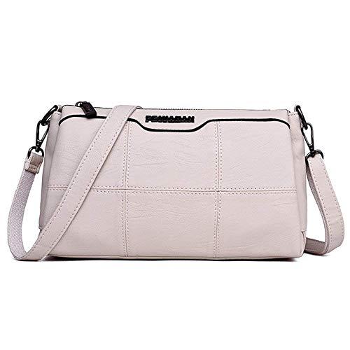 Mujeres Eeayyygch Bolsos Oscuro Gris Totes Blanco Bolso Bag La Pu De tF6qX