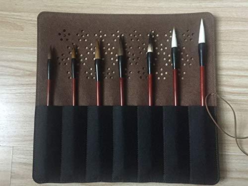 Chinese Caligraphy sumi Brush Writing/Painting/Drawing Set/Watercolor/7 Brushes Plus 1 Felt Wrap