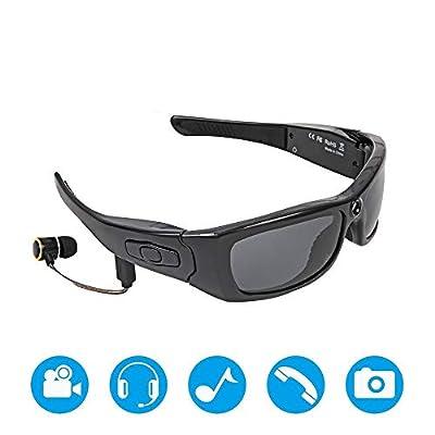 ZJGT 1080 P Hd Bluetooth Music Video Sunglasses Can Answer The Call Smart Glasses Tornado Cycling Running Sports Sunglasses