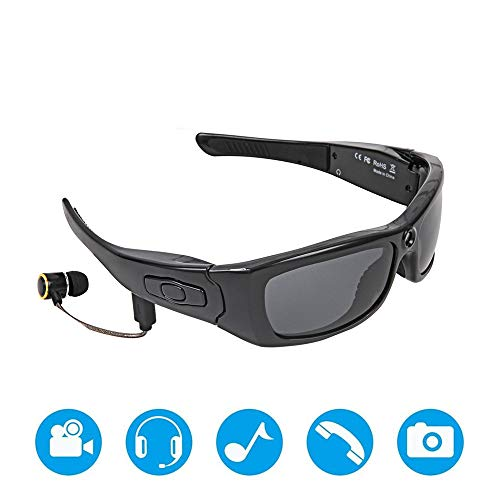 Jaiconfiance Polarized Sports Sunglasses Bluetooth Sunglasses Lightweight Design Smart One-Button Multifunction with Wireless Stereo MP3 Headphones Polarized Glasses Outdoor Activities