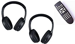 Nissan Armada Wireless Headphones (Set of 2) and 1 DVD Remote 2004, 2005 2006 2007 2008 2009 2010 2011