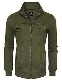 Tom's Ware Mens Zip Up Convertible Collar Jacket